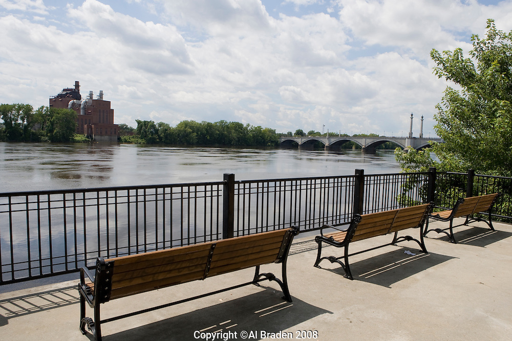 Riverfront Park on the Connecticut River, Springfield, MA