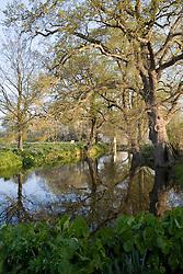 The Moat at Sissinghurst Castle Garden in spring