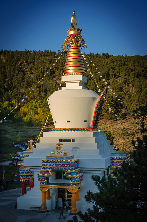 The Great Stupa of Dharmakaya, the largest Buddhist monument in the United States.
