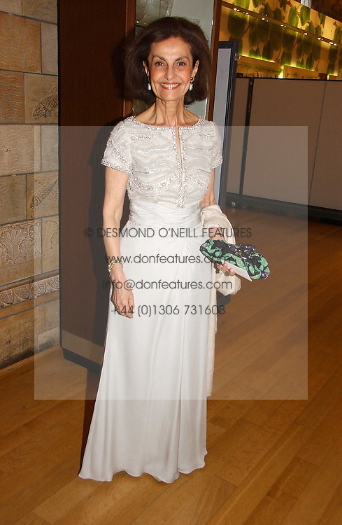 LADY LEVER at a gala dinner in the presence of HM Quenn Silvia of Sweden and HM Queen Noor of Jordan in aid of the charity Mentor held at the Natural History Museum, Cromwell Road, London on 23rd May 2006.<br /><br />NON EXCLUSIVE - WORLD RIGHTS