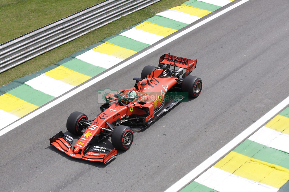November 17, 2019, Sao Paulo, Brazil: SEBASTIAN VETTEL, of Scuderia Ferrari drives during the Formula One Grand Prix of Brazil 2019 at Interlagos circuit, in Sao Paulo, Brazil. (Credit Image: © Paulo Lopes/ZUMA Wire)