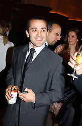 French rugby player THOMAS CASTAIGNE at a dinner hosted by footballer Patrick Vieira and the Diambars UK Charital Trust at The Landmark Hotel, 222 Marylebone Road, London NW1 on 3rd February 2005.<br /><br />NON EXCLUSIVE - WORLD RIGHTS
