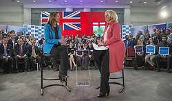 February 5, 2018 - Toronto, ON, Canada - TORONTO, ON - FEBRUARY 5: Caroline Mulroney (left) at a town hall type meeting in North York moderated by federal Conservative MP Lisa Raitt. Mulroney is officially in the race for the leadership of the Ontario PC Party.  Toronto Star/Rick Madonik Rick Madonik/Toronto Star (Credit Image: © Rick Madonik/The Toronto Star via ZUMA Wire)