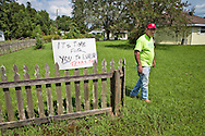 Mike Schaff at his home in Bayou Corne. He settled with Texas Brine and moved out in Feubuary 2014.