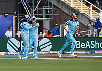 Cricket - 2019 ICC Cricket World Cup - Group Stage: England vs. NZ<br /> <br /> Joe Root of England catches from Ben Stokes of England to put out Colin De Grandehomme of New Zealand, at the Riverside, Chester-le-Street, Durham.<br /> <br /> COLORSPORT/BRUCE WHITE