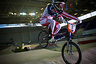 #8 (POST Alise) USA at the UCI BMX Supercross World Cup in Manchester, UK