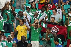 Torcida na partida entre Uruguai e Nigéria válida pela segunda rodada da Copa das Confederações 2013, no estádio Arena Fonte Nova, em Salvador, Bahia. FOTO: Jefferson Bernardes/Preview.com