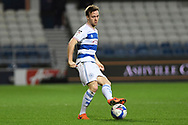 QPR Defender Todd Kane(2) plays a pass during the EFL Sky Bet Championship match between Queens Park Rangers and Brentford at the Kiyan Prince Foundation Stadium, London, England on 17 February 2021.