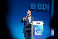 DEU, Deutschland, Germany, Berlin, 22.06.2021: Armin Laschet, Ministerpräsident von Nordrhein-Westfalen, CDU-Bundesvorsitzender und Kanzlerkandidat, beim Tag der Industrie (TDI) des Bundesverbands der Deutschen Industrie (BDI) in der Verti Music Hall.