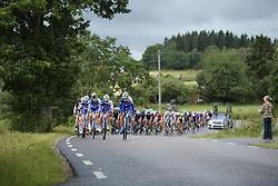 FDJ set the pace of the chase at the Crescent Vargarda - a 152 km road race, starting and finishing in Vargarda on August 13, 2017, in Vastra Gotaland, Sweden. (Photo by Sean Robinson/Velofocus.com)