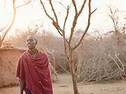 Maasai tribeswoman in Tipilit village, near Amboseli National Park, Kenya