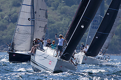 Sailing - SCOTLAND  - 25th-28th May 2018<br /> <br /> The Scottish Series 2018, organised by the  Clyde Cruising Club, <br /> <br /> First days racing on Loch Fyne.<br /> <br /> FRA37296, Triple Elf, Christine Murray, CCC/Fairlie YC, Beneteau First 35<br /> <br /> Credit : Marc Turner<br /> <br /> <br /> Event is supported by Helly Hansen, Luddon, Silvers Marine, Tunnocks, Hempel and Argyll & Bute Council along with Bowmore, The Botanist and The Botanist