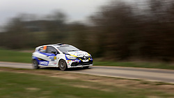 17 March 2018. St Denoeux, Pas de Calais, France.<br /> The 58th Rally Du Touquet blasts through the narrow country lanes above the town of Saint Denoeux.<br /> Photo©; Charlie Varley/varleypix.com