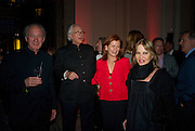 Sir Mark Weinberg, Sir Evelyn de Rothschild,  Lady Foster and Lady ( Anouscha ) Weinberg, Opening of Blood on Paper: the art of the Book. V & A. Museum. London. 14 April 2008. Afterwards there was a dinner hosted by Lady Foster.  *** Local Caption *** -DO NOT ARCHIVE-© Copyright Photograph by Dafydd Jones. 248 Clapham Rd. London SW9 0PZ. Tel 0207 820 0771. www.dafjones.com.