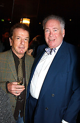 Left to right, NICKY HASLAM and LORD HESKETH at a fund raising dinner hosted by Marco Pierre White and Frankie Dettori's in aid of Conservative Party's General Election Campaign Fund held at Frankie's No.3 Yeoman's Row,æLondon SW3 on 17th January 2005.<br />