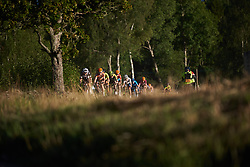 Lucinda Brand (NED) and Amy Pieters (NED) lead the bunch across the fourth gravel sector at Postnord Vårgårda West Sweden Road Race 2018, a 141 km road race in Vårgårda, Sweden on August 13, 2018. Photo by Sean Robinson/velofocus.com
