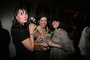 VERITY BROWN, MALENA BACH AND MARINA VENEZIALE. Party hosted by Larry Gagosian at Nobu, Berkeley St. London. 9 October 2007. -DO NOT ARCHIVE-© Copyright Photograph by Dafydd Jones. 248 Clapham Rd. London SW9 0PZ. Tel 0207 820 0771. www.dafjones.com.