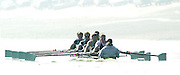 Putney, LONDON.  Varsity Boat Race -28/03/2002 - 2002 Varsity Boat Race-Tideway week. Cambridge University Blue Boat, training on the River Thames in the early morning.  [Mandatory Credit: Peter Spurrier/Intersport Images] 2002 Varsity, Tideway Week :Challenge : Weigh-in
