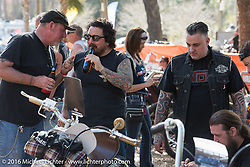 The Harley-Davidson Editors Choice bike show at the Broken Spoke Saloon. Daytona Bike Week 75th Anniversary event. FL, USA. Wednesday March 9, 2016.  Photography ©2016 Michael Lichter.