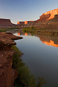 The Green River at the Labyrinth area along the White Rim Trail, Island in the Sky District, Canyonlands National Park, near Moab, Utah.