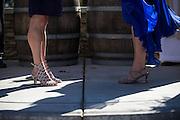 A couple celebrates their same sex wedding at Wedgewood Napa at Kennedy Park in Napa, California, on July 30, 2016. (Stan Olszewski/SOSKIphoto)