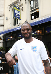 Ledley King at the Lord Raglan Pub in London as fans watch the World Cup match between England and Belgium. PRESS ASSOCIATION Photo. Picture date: Thursday June 28, 2018. See PA story WORLDCUP England. Photo credit should read: Matt Alexander/PA Wire