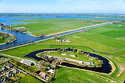 Nederland, Noord-Holland, gemeente Alkmaar, 20-04-2015; Fort bij Marken-Binnen, gelegen bij Markenbinnen ten noorden van West-Knollendam, in de polder Starnmeer. Alkmaardermeer en eiland De Woude in de achtergrond. Onderdeel van de Stelling van Amsterdam.<br /> Fort bij Marken-Binnen, part of 19th century Defense line of Amsterdam.<br /> luchtfoto (toeslag op standard tarieven);<br /> aerial photo (additional fee required);<br /> copyright foto/photo Siebe Swart
