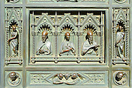 Bronze doors of the Porta Maggiore, by Amalia Dupre.  Duomo of Florence,  Basilica of Saint Mary of the Flower; Firenza ( Basilica di Santa Maria del Fiore ).  Built between 1293 & 1436. Italy