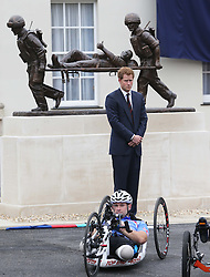 Prince Harry  at the Help For Heroes Recovery Centre in Tidworth, Wiltshire, Monday, 20th May 2013 Picture by:  Stephen Lock / i-Images