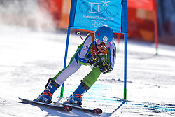South Korea, PyeongChang - 2018 February 15: Meta Hrovat from Slovenia competes while Ski Jumping Ladies' Giant Slalom Run during The 2018 PyeongChang Olympic Winter Games at Yongpyong Alpine Centre on February 15, 2018 in PyeongChang, South Korea.<br /> <br /> Mandatory credit:<br /> Photo by © Adam Nurkiewicz<br /> <br /> Adam Nurkiewicz declares that he has no rights to the image of people at the photographs of his authorship.<br /> <br /> Picture also available in RAW (NEF) or TIFF format on special request.<br /> <br /> Any editorial, commercial or promotional use requires written permission from the author of image.