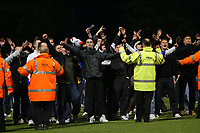 Photo: Rich Eaton.<br /> <br /> Shrewsbury Town v Milton Keynes Dons. Coca Cola League 2. Play off Semi Final, 1st Leg. 14/05/2007. Shrewsbury fans taunt the MK Dons fans at the end of the game as they invade the pitch
