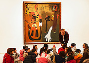 Art appreciation class, Museo Nacional Centro de Arte Reina Sofia, Madrid, Spain.