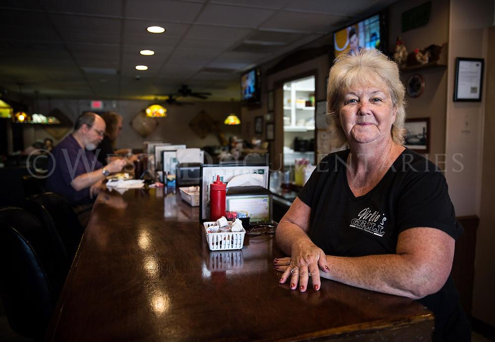 Frankie Jones, waitress, Virlie's Grill, Pittsboro.
