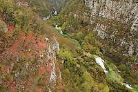 Korana canyon and river, Plitvice National Park, Croatia