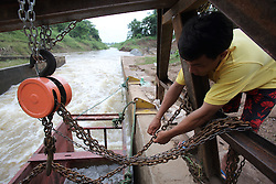 Fishway project in Pak Peung village, Bolikhamxay<br />Province, funded by ACIAR,  Lao PDR
