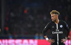 .Paris Saint-Germain's Brazilian forward Neymar during the UEFA Champions League Group C football match between Paris Saint-Germain and SSC Napoli at the Parc des Princes stadium, in Paris, on October 24, 2018. Photo by Christian Liewig/ABACAPRESS.COM