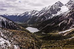 THEMENBILD - Blick auf den Antolzer See und das Antholzer Tal mit seinen Bergen, aufgenommen am 30. Mai 2019 in Antholz, Italien // View of Lake Antolz and the Antholz Valley with the mountains, Antholz, Italy on 2019/05/30. EXPA Pictures © 2019, PhotoCredit: EXPA/ JFK