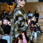The British luxury Womenswear designer, Chanel Joan Elkayam, showcases her Autumn - Winter 2020 show ahead of London Fashion Week on 13 February 2020 at Cecil Sharp House, London, UK.