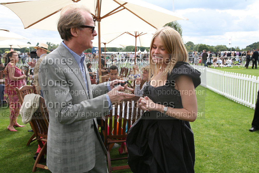 Alice Eve and Bill Nighy, Cartier International Polo. Guards Polo Club. Windsor Great Park. 29 July 2007.  -DO NOT ARCHIVE-© Copyright Photograph by Dafydd Jones. 248 Clapham Rd. London SW9 0PZ. Tel 0207 820 0771. www.dafjones.com.