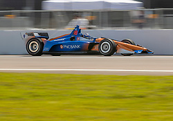 March 9, 2019 - St. Petersburg, FL, U.S. - ST. PETERSBURG, FL - MARCH 09: Chip Ganassi Racing driver Scott Dixon (9) of New Zealand during the NTT IndyCar Series - Firestone Grand Prix Qualifying on March 9 in St. Petersburg, FL. (Photo by Andrew Bershaw/Icon Sportswire) (Credit Image: © Andrew Bershaw/Icon SMI via ZUMA Press)