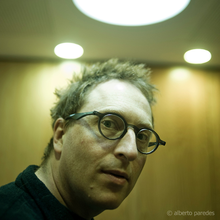 Jon Ronson, journalist, filmmaker and writer, author of The Men Who Stare At Goats, in Madrid, Spain.