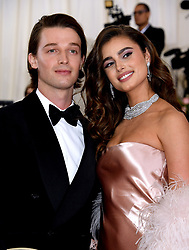 Patrick Schwarzenegger and Taylor Hill attending the Metropolitan Museum of Art Costume Institute Benefit Gala 2019 in New York, USA.