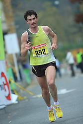 Bostjan Hrovat  v cilju na 13. Ljubljanskem maratonu po ulicah Ljubljane, 26. oktobra 2008, Ljubljana, Slovenija. (Photo by Vid Ponikvar / Sportal Images)./ Sportida)