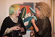 JULIE VERHOEVEN; PASCALE COHEN, Valeria and Gregorio Napoleone and Joe Scotland host a dinner at therir home in Kensington  in celebration of Sol  Calero's commission at Studio Voltaire.  London. 13 October 2015