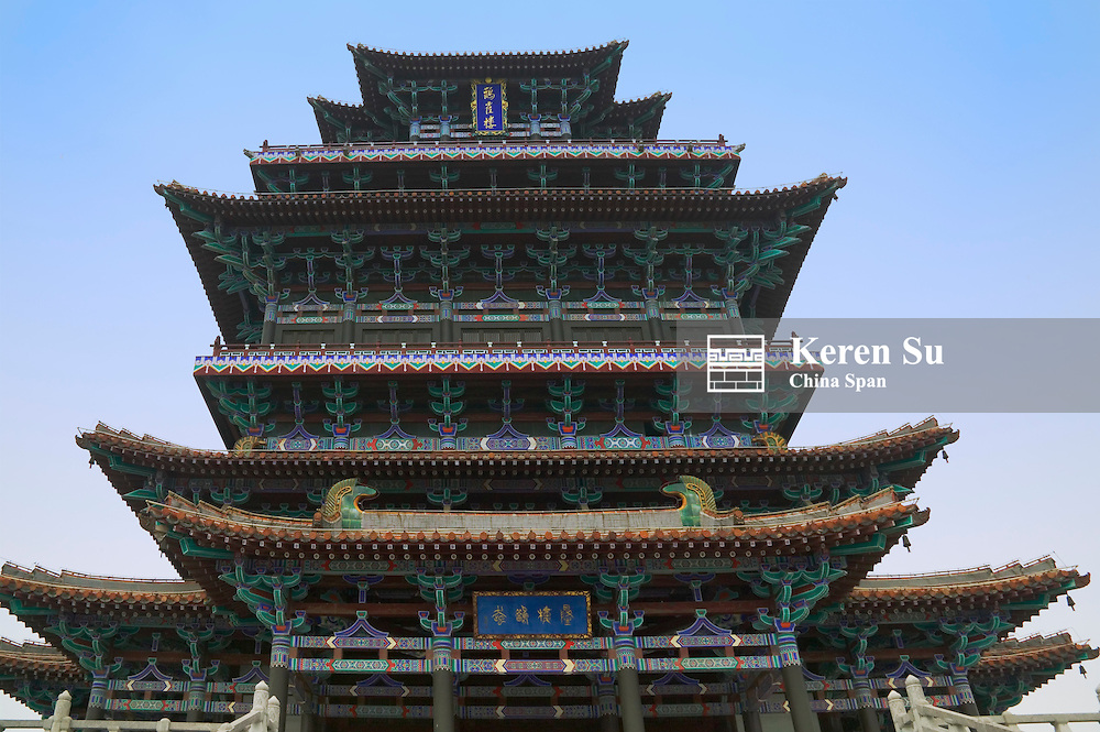 Tang Dynasty Guanque Chamber, one of China's four famous chambers, Yongji, Yuncheng, Shanxi, China