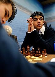 17-01-2011 SCHAKEN: TATA STEEL CHESS TOURNAMENT: WIJK AAN ZEE <br /> Anish Giri (foto) heeft in de derde ronde van het Tata Steel Schaaktoernooi in Wijk aan Zee voor een grote verrassing gezorgd. De 16-jarige schaker uit Rijswijk versloeg maandag in recordtempo de Noor Magnus Carlsen NOO<br /> ©2010-WWW.FOTOHOOGENDOORN.NL