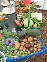Produce show at Whitemoor Allotments, Nottingham , England