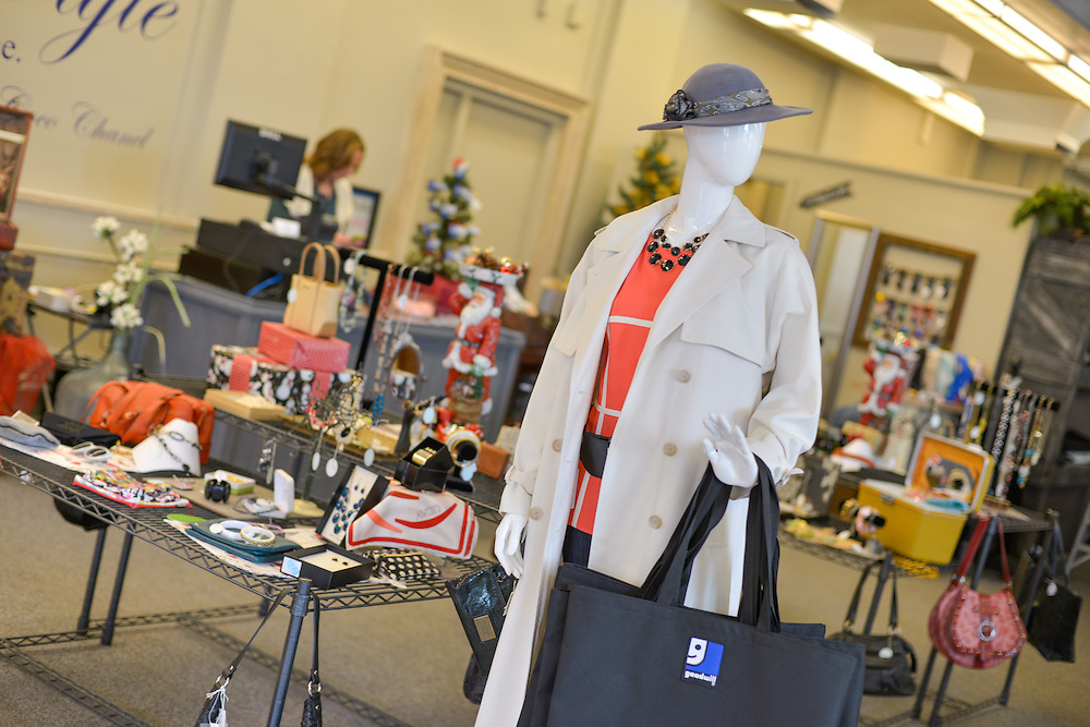 Clothing and accessories at blue boutique in Downtown Akron