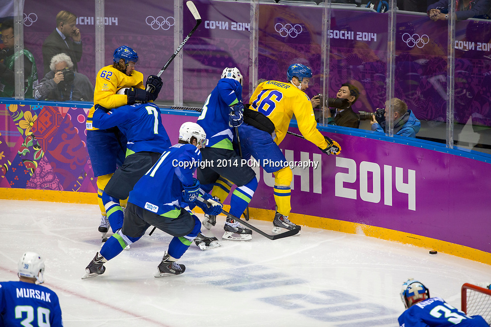 Sweden vs Slovenia game at the Olympic Winter Games, Sochi 2014
