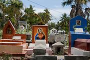 A catholic cemetary near the beach outside Dili, capital of Timor Leste.
